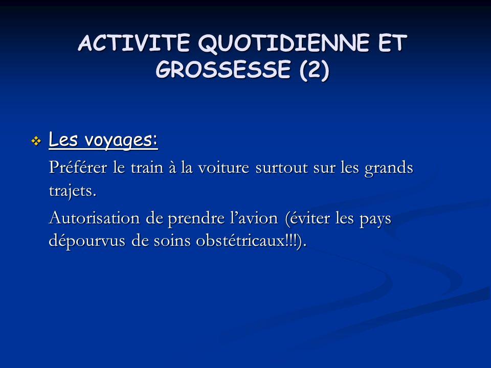 ACTIVITE QUOTIDIENNE ET GROSSESSE (2)