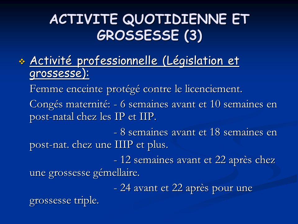 ACTIVITE QUOTIDIENNE ET GROSSESSE (3)