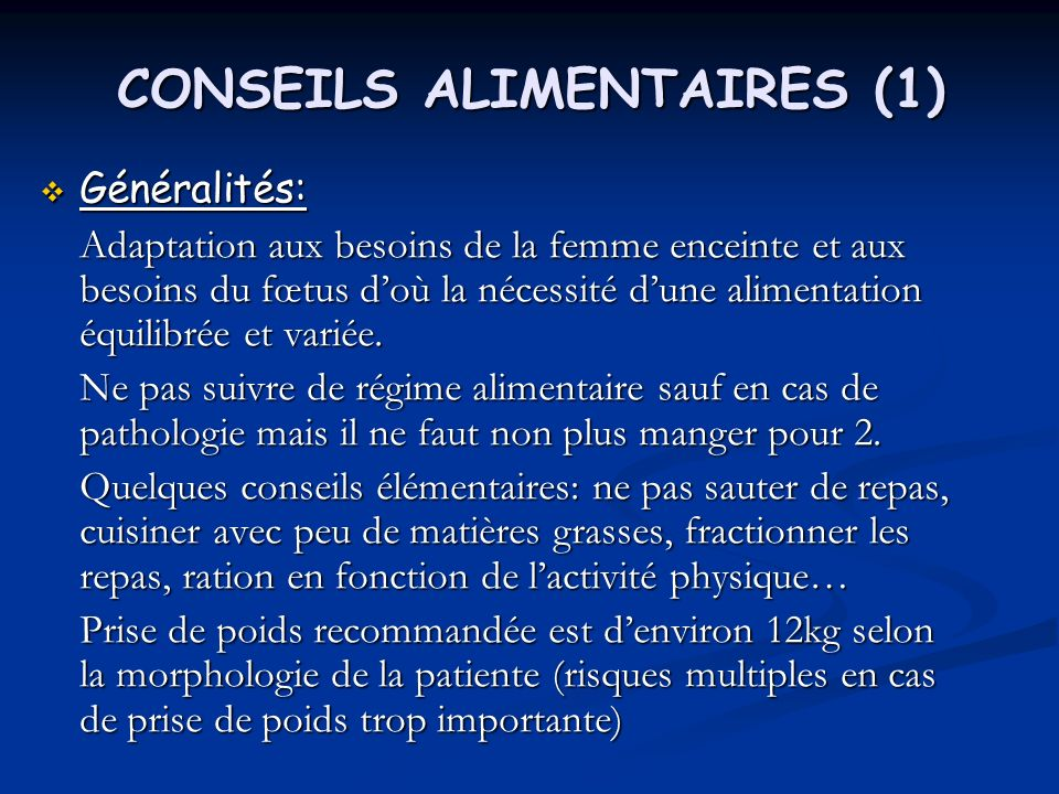 CONSEILS ALIMENTAIRES (1)