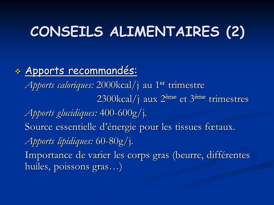 CONSEILS ALIMENTAIRES (2)