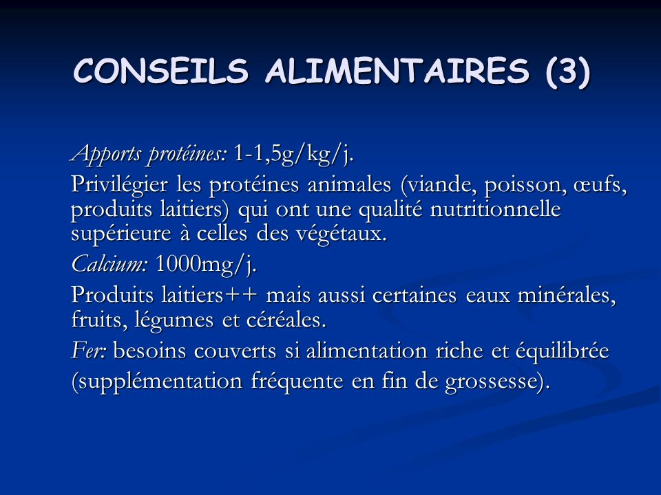 CONSEILS ALIMENTAIRES (3)