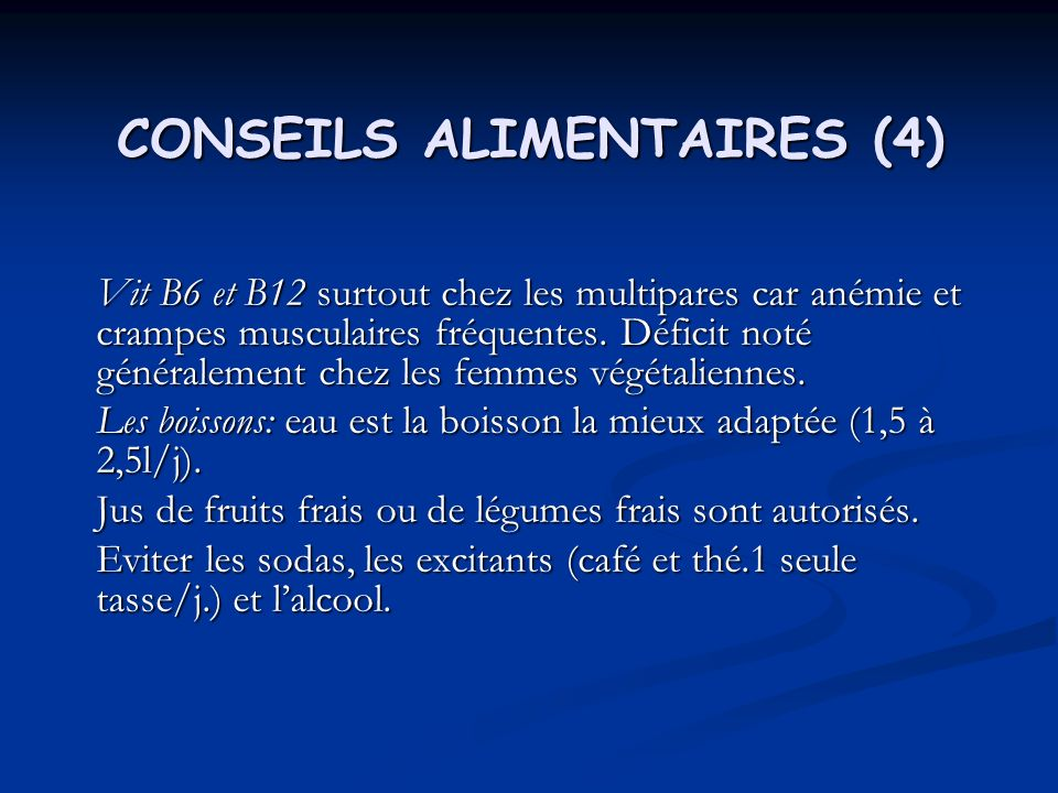 CONSEILS ALIMENTAIRES (4)