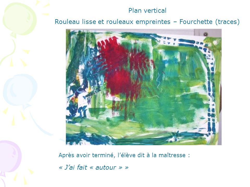 Rouleau lisse et rouleaux empreintes – Fourchette (traces)