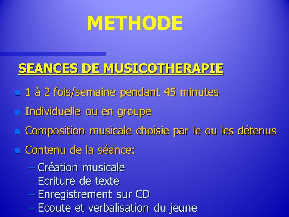 SEANCES DE MUSICOTHERAPIE
