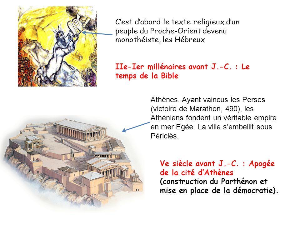 C'est d'abord le texte religieux d'un peuple du Proche-Orient devenu monothéiste, les Hébreux