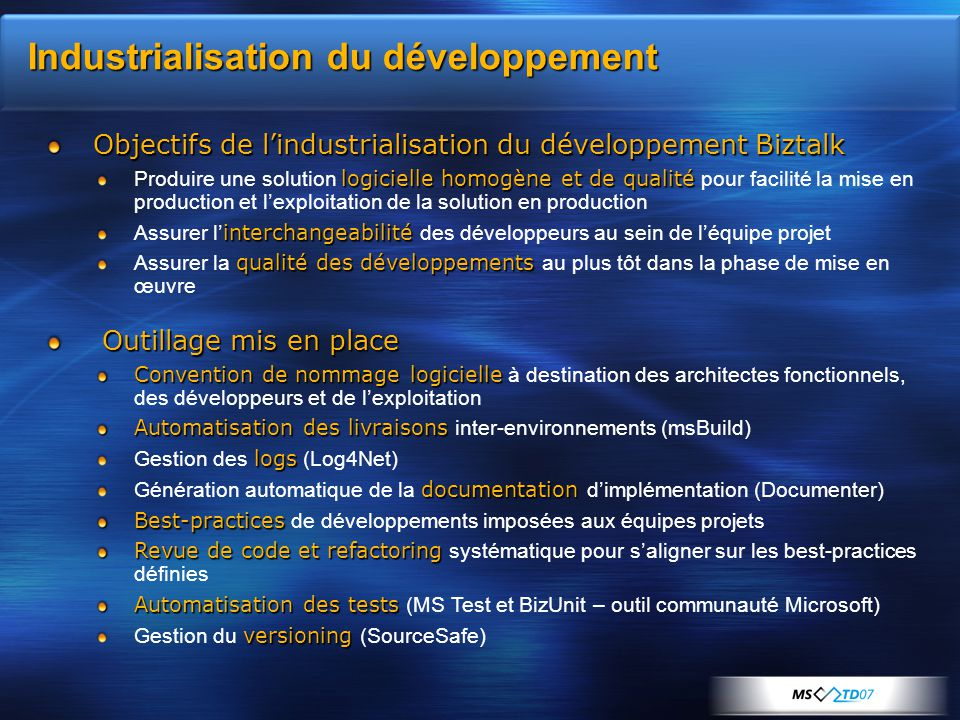 Industrialisation du développement