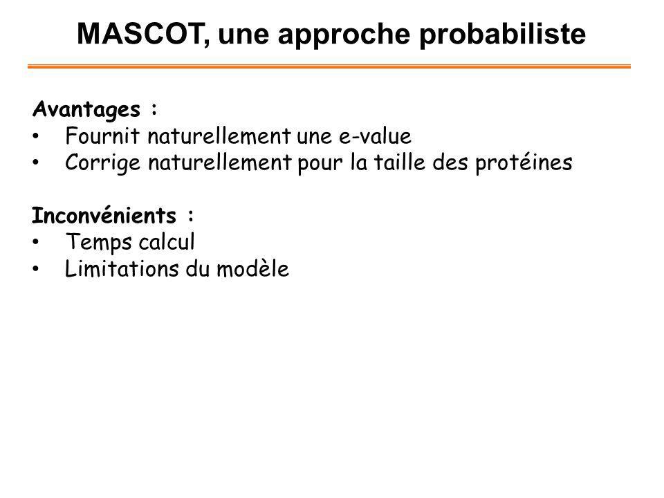 MASCOT, une approche probabiliste