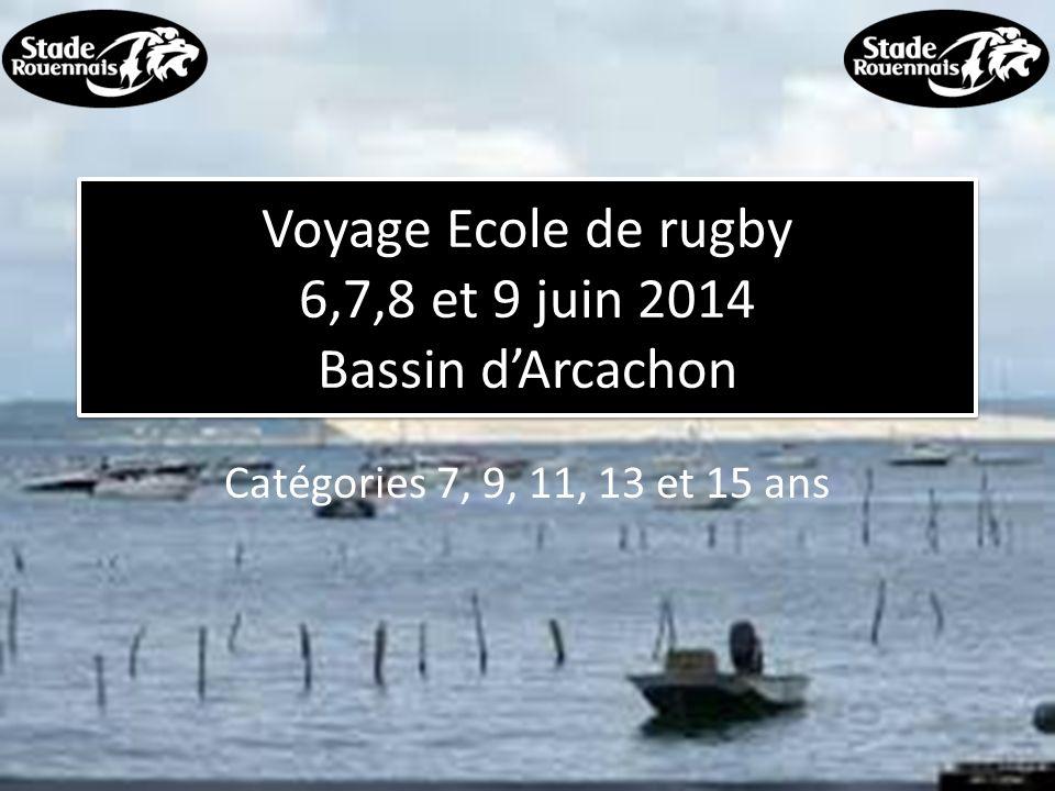 Voyage Ecole de rugby 6,7,8 et 9 juin 2014 Bassin d'Arcachon