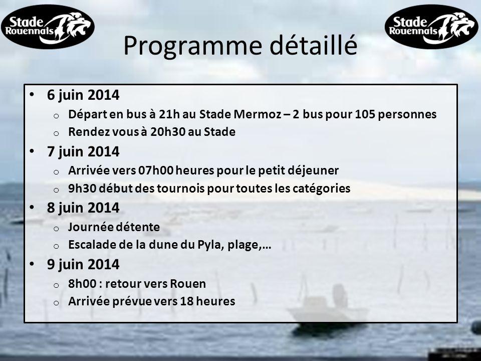 Programme détaillé 6 juin 2014 7 juin 2014 8 juin 2014 9 juin 2014