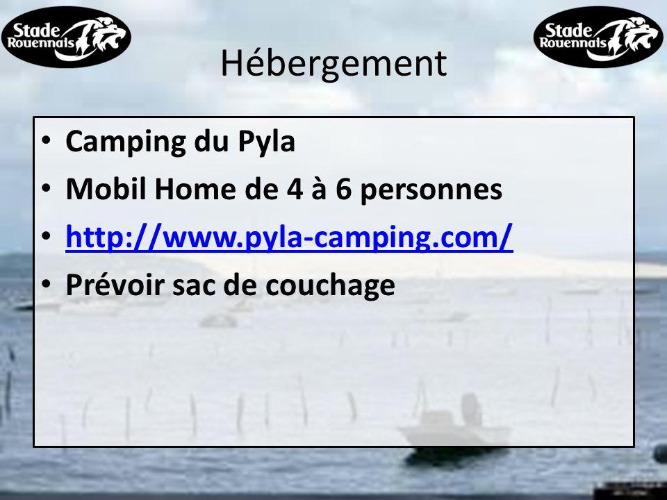 Hébergement Camping du Pyla Mobil Home de 4 à 6 personnes