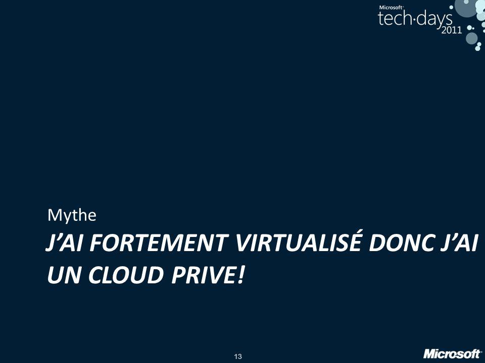 J'ai fortement virtualisé donc j'ai un cloud prive!