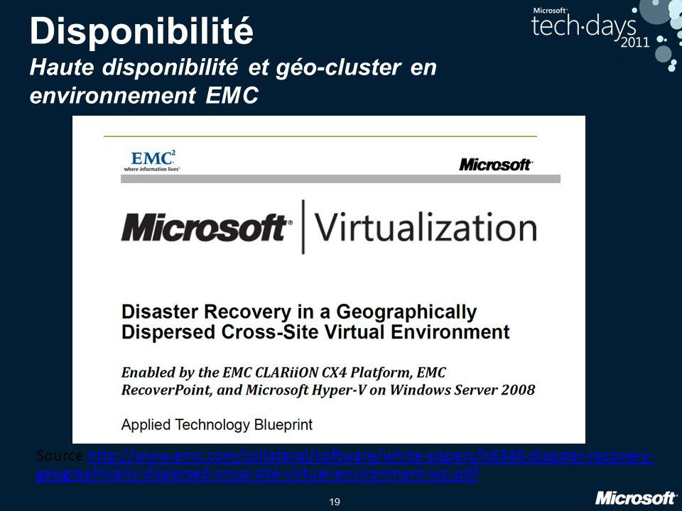 Disponibilité Haute disponibilité et géo-cluster en environnement EMC