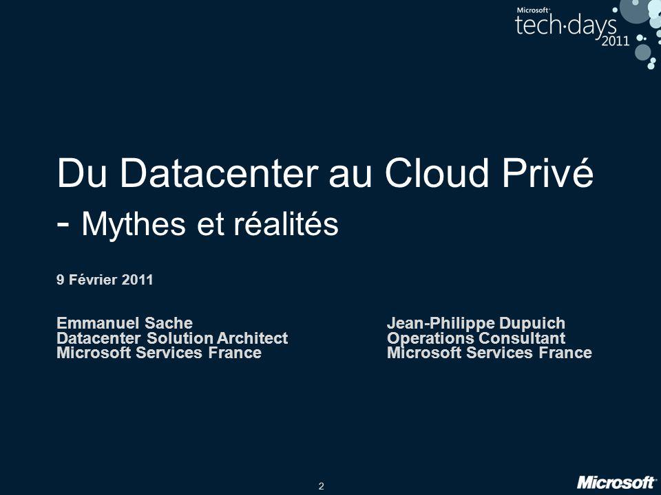 Du Datacenter au Cloud Privé - Mythes et réalités