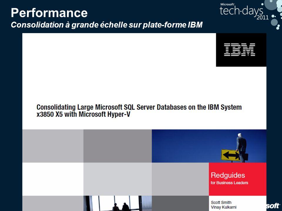 Performance Consolidation à grande échelle sur plate-forme IBM