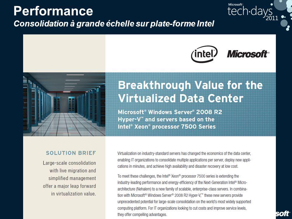 Performance Consolidation à grande échelle sur plate-forme Intel