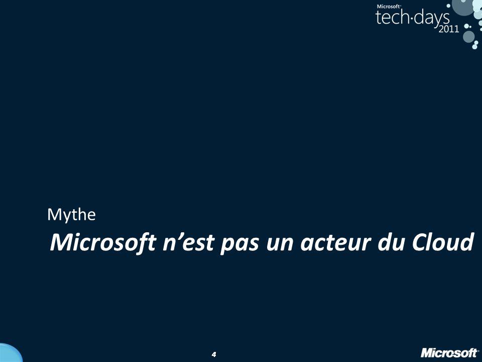 Microsoft n'est pas un acteur du Cloud