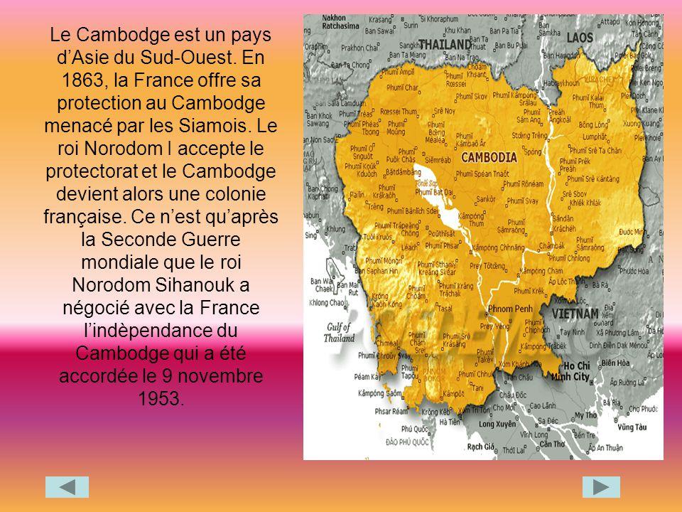 Le Cambodge est un pays d'Asie du Sud-Ouest
