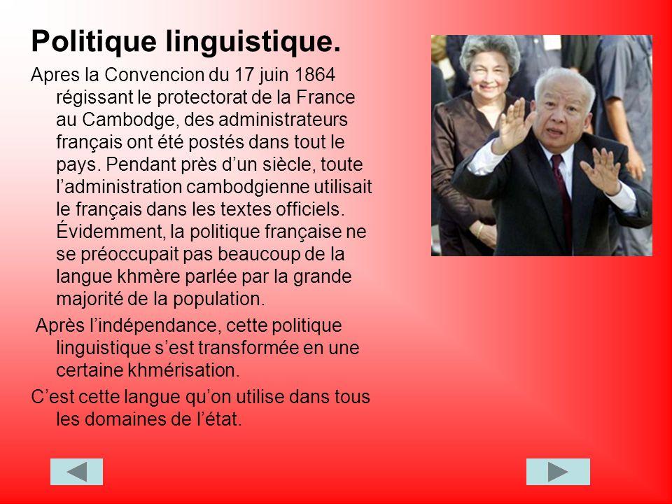 Politique linguistique.