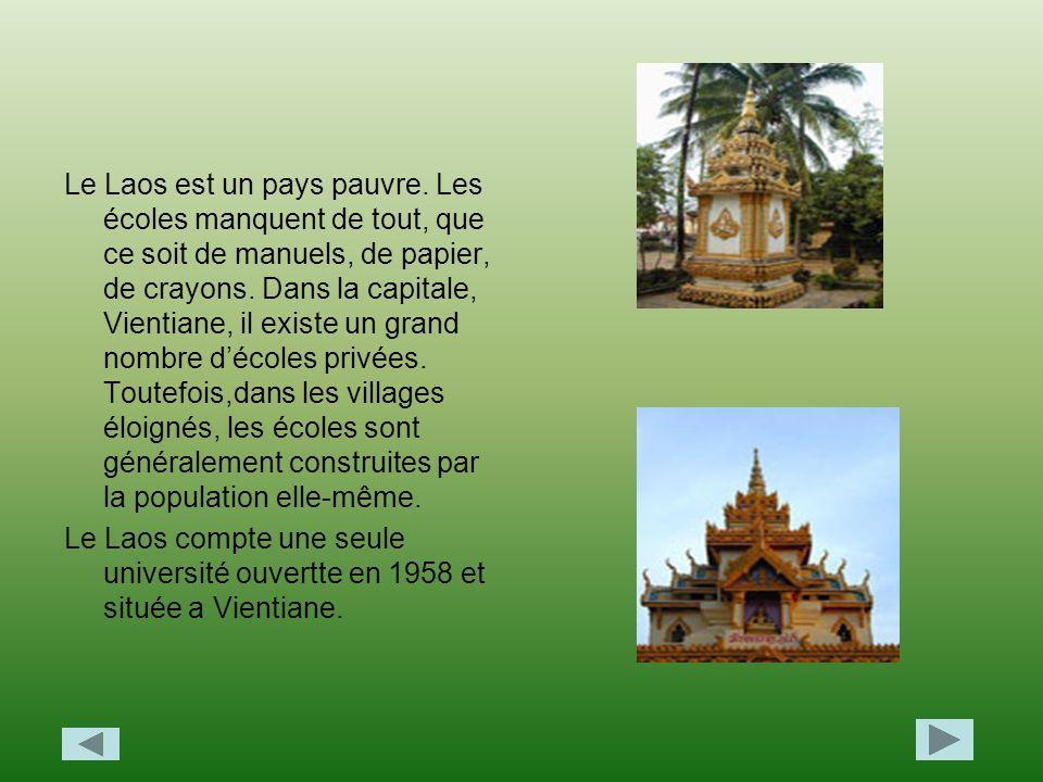Le Laos est un pays pauvre