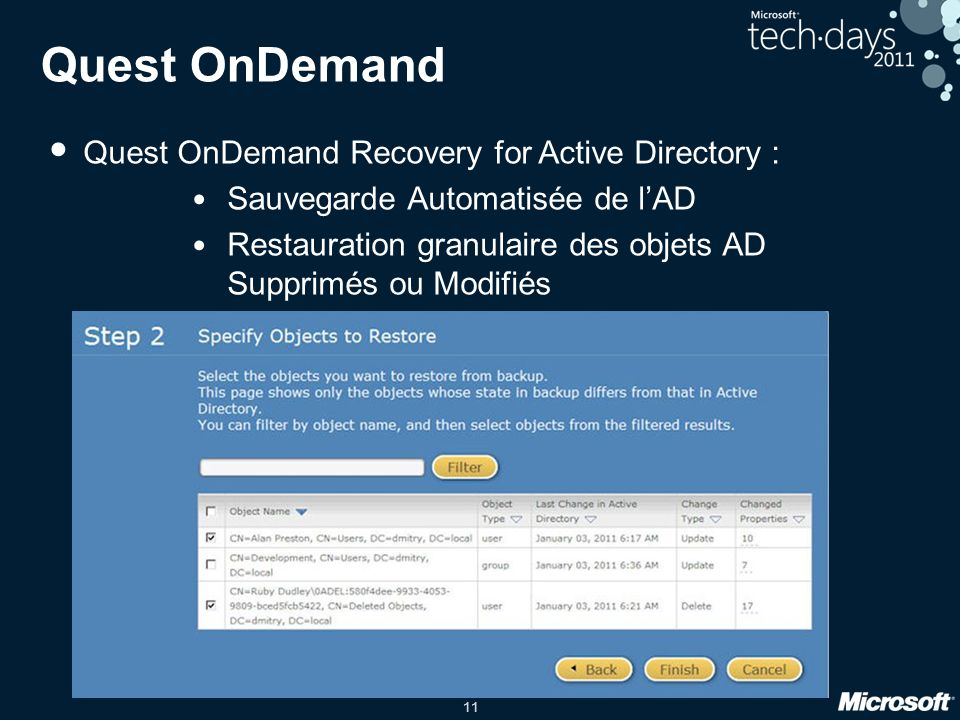 Quest OnDemand Quest OnDemand Recovery for Active Directory :