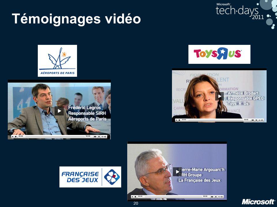 Témoignages vidéo