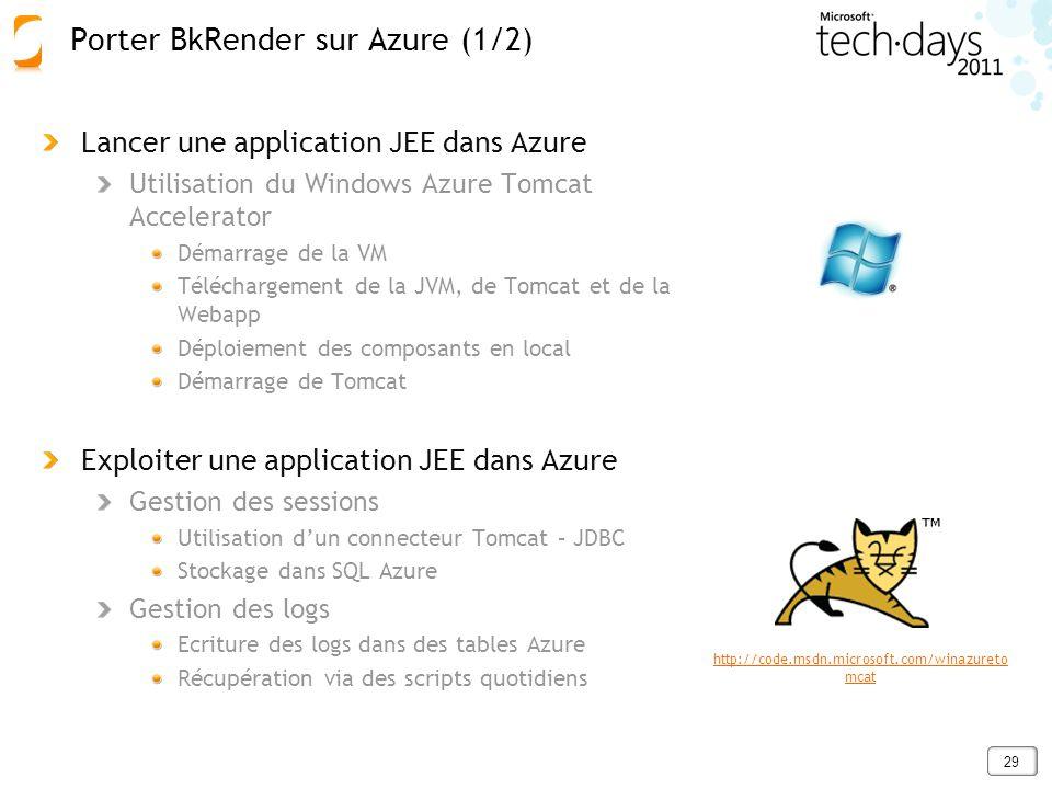 Porter BkRender sur Azure (1/2)