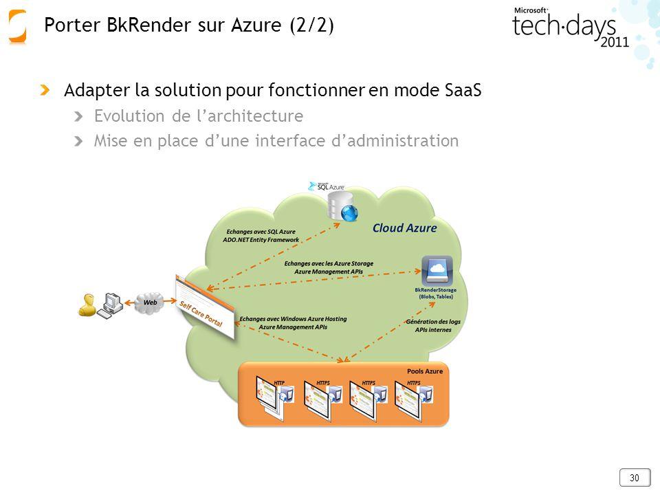 Porter BkRender sur Azure (2/2)