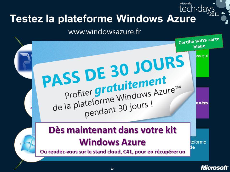 Testez la plateforme Windows Azure