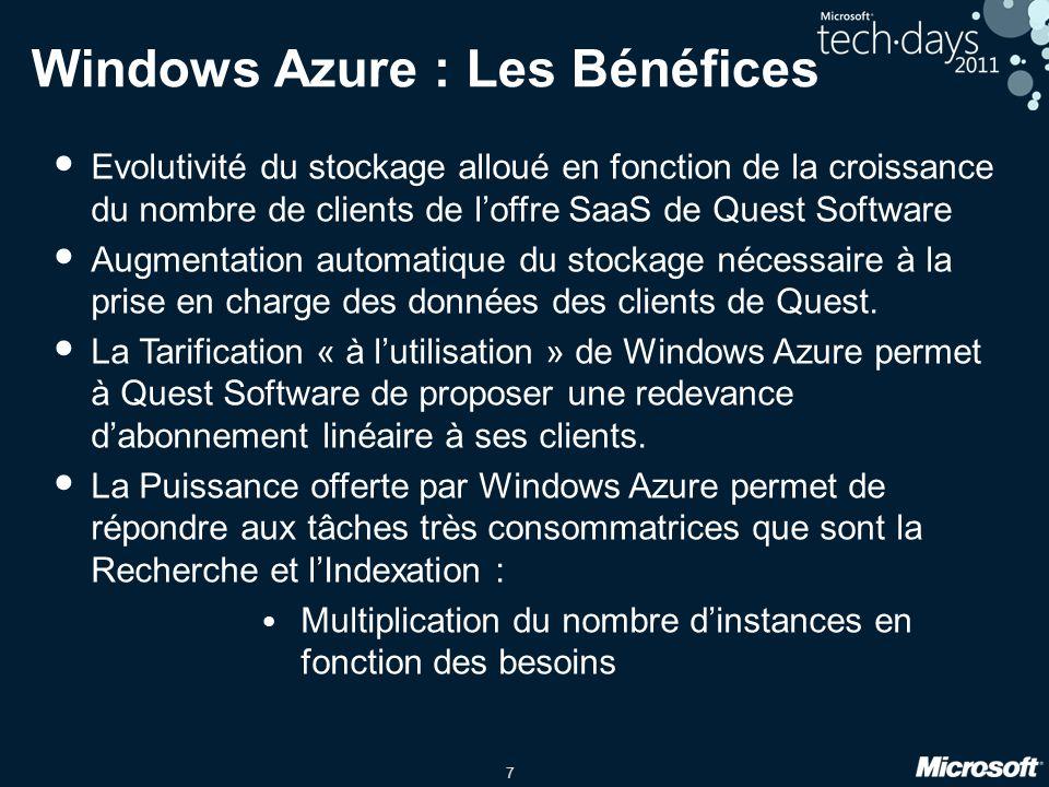 Windows Azure : Les Bénéfices