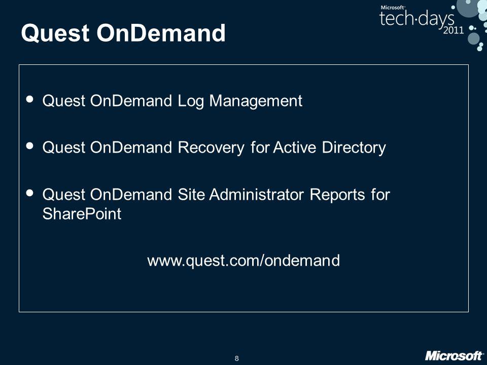 Quest OnDemand Quest OnDemand Log Management