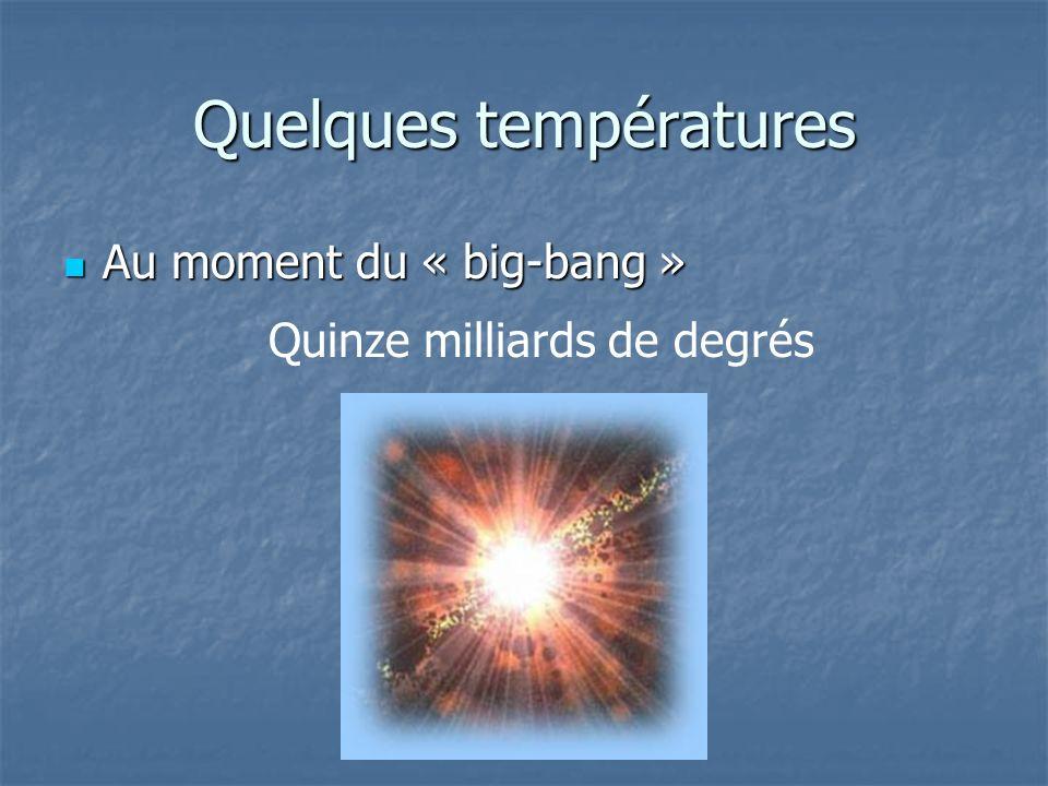 Quelques températures