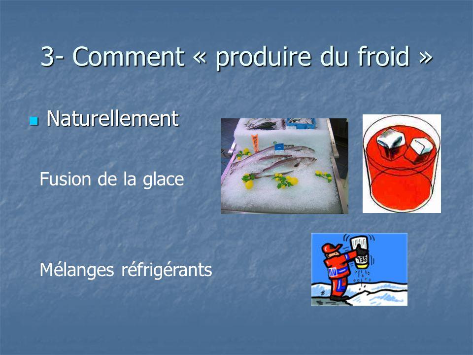3- Comment « produire du froid »