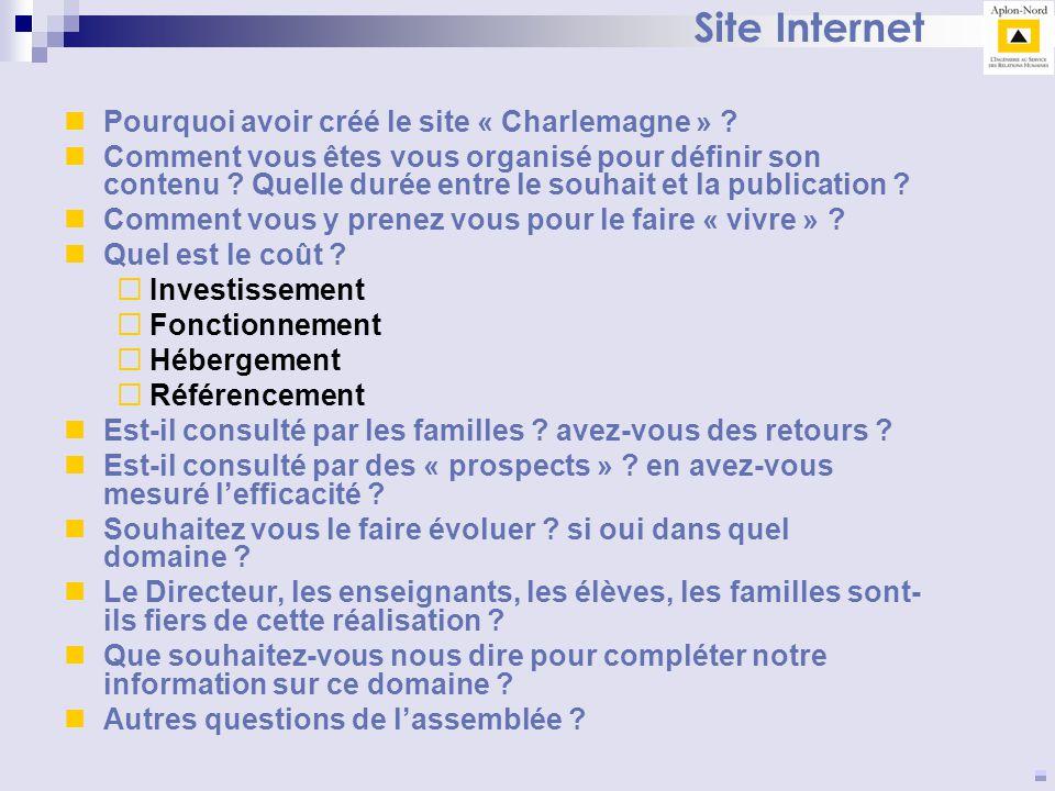 Site Internet Pourquoi avoir créé le site « Charlemagne »