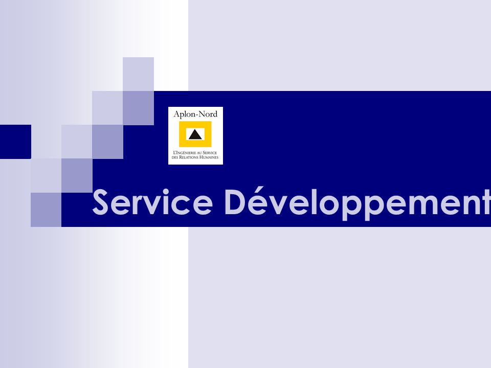 Service Développement