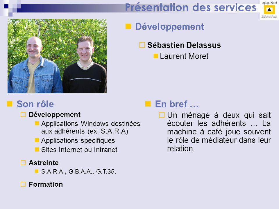 Présentation des services