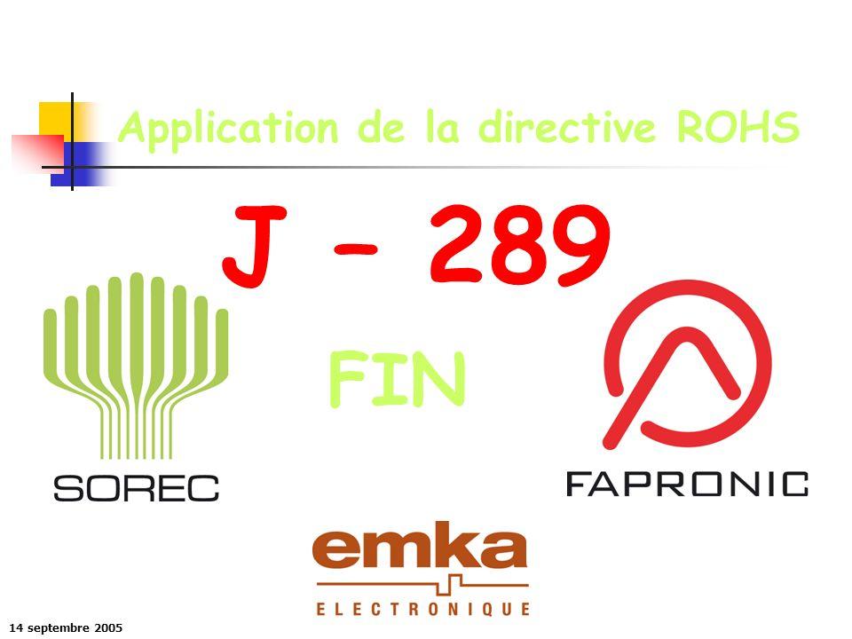 Application de la directive ROHS