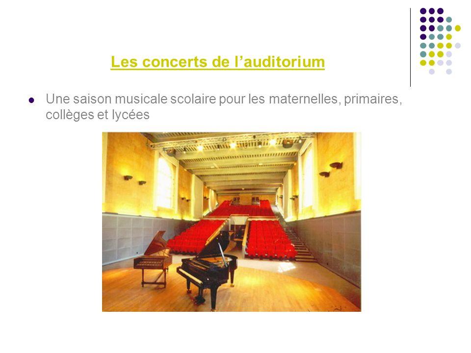 Les concerts de l'auditorium