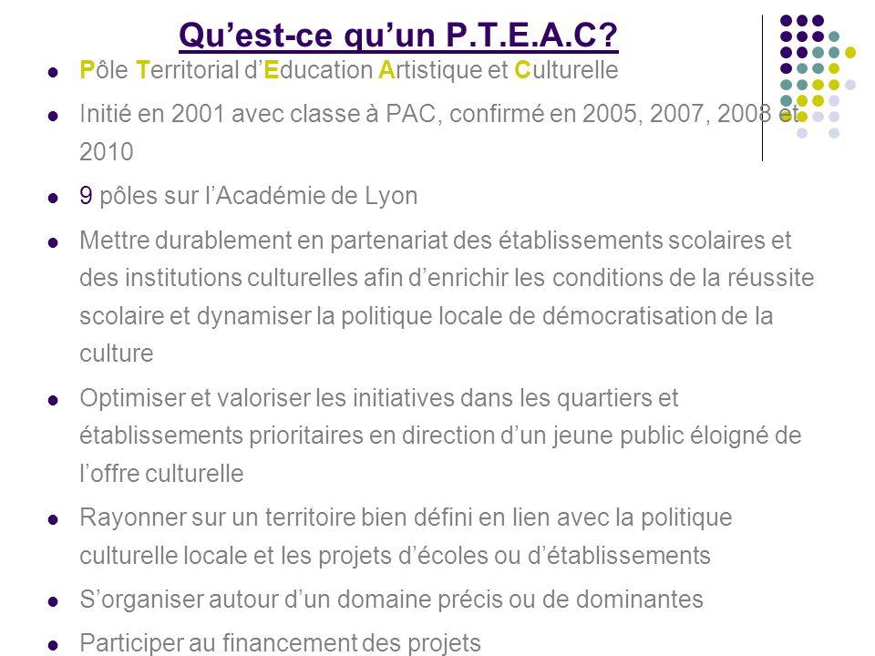 Qu'est-ce qu'un P.T.E.A.C Pôle Territorial d'Education Artistique et Culturelle.