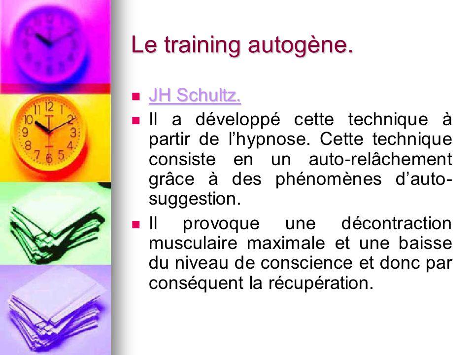 Le training autogène. JH Schultz.
