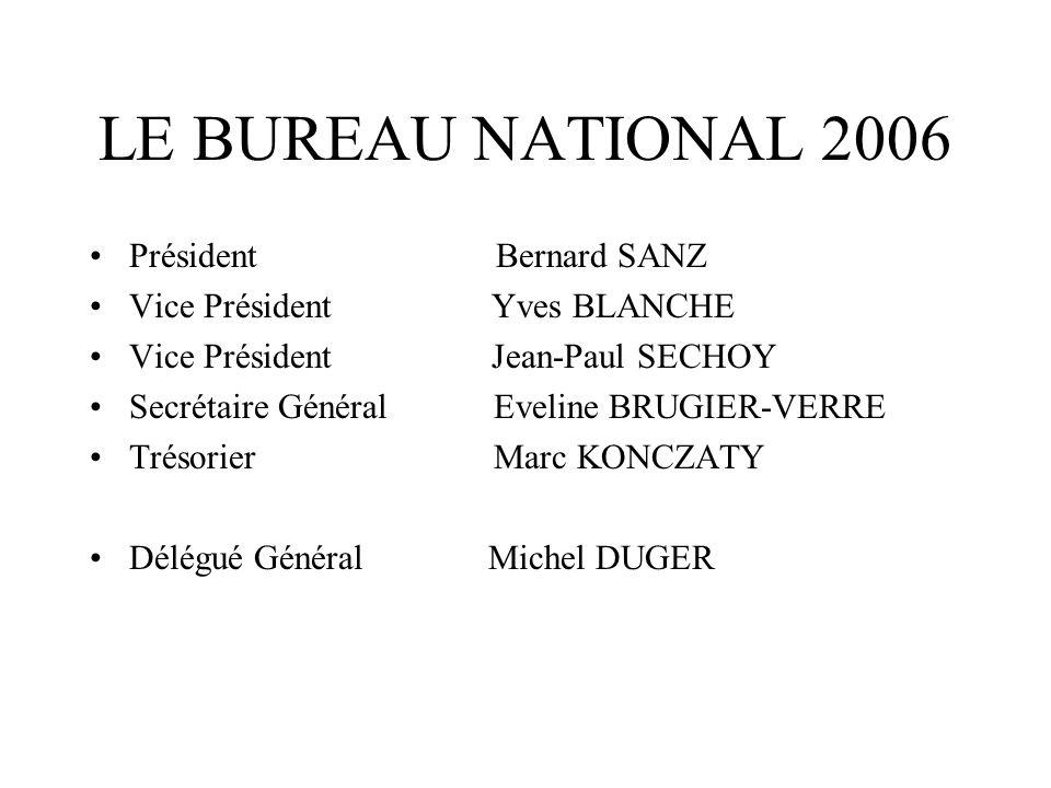 LE BUREAU NATIONAL 2006 Président Bernard SANZ