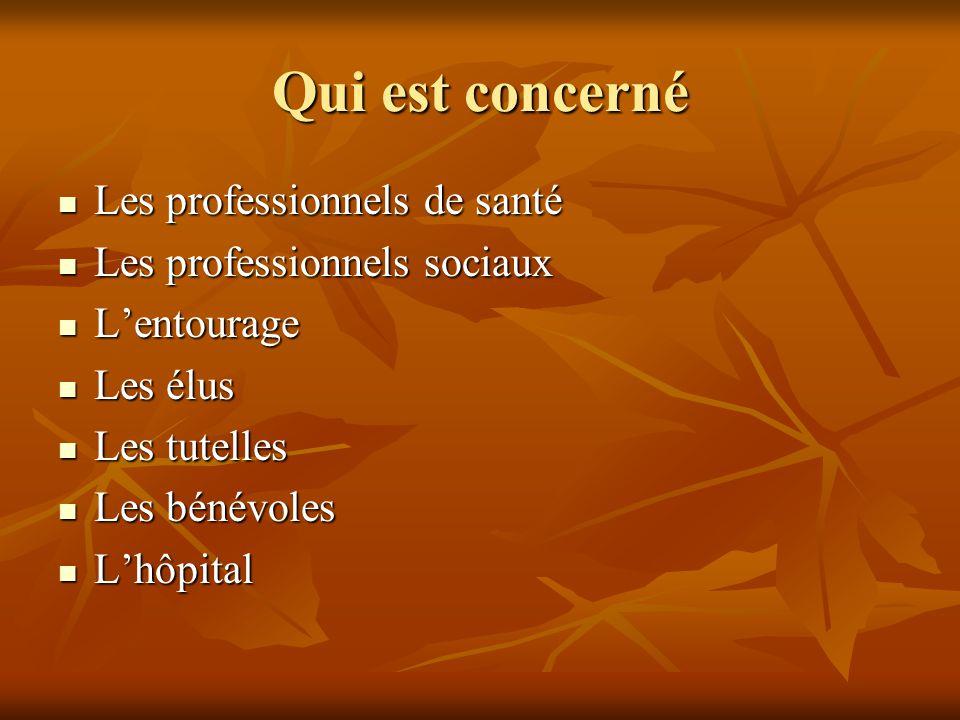 Qui est concerné Les professionnels de santé