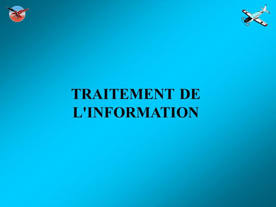TRAITEMENT DE L INFORMATION