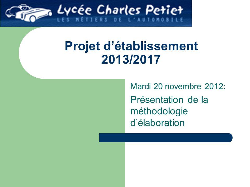 Projet d'établissement 2013/2017