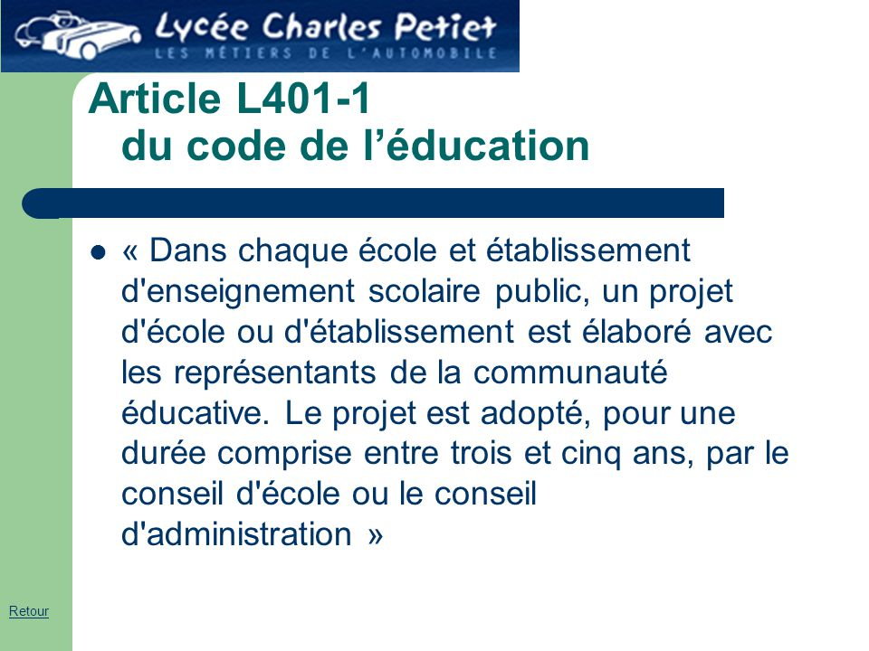 Article L401-1 du code de l'éducation