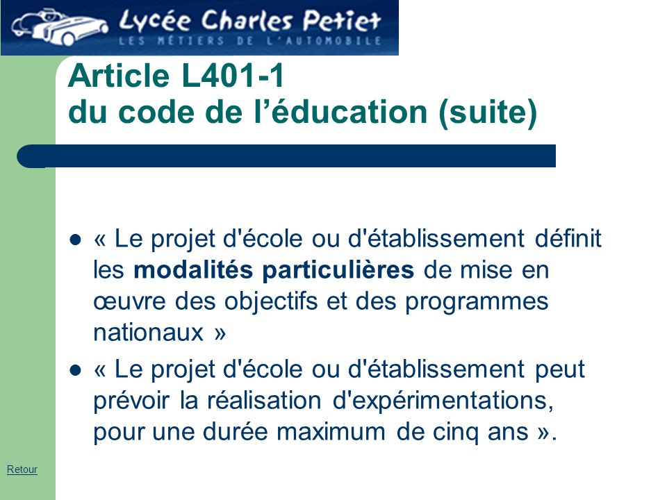 Article L401-1 du code de l'éducation (suite)