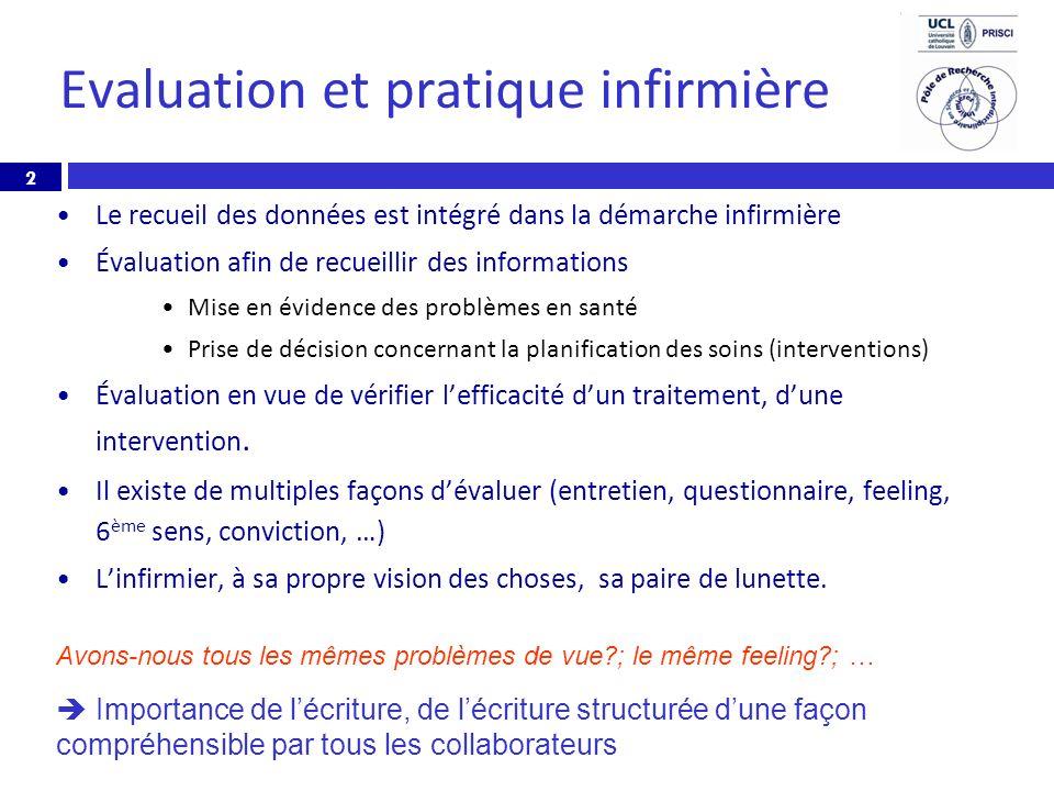 Evaluation et pratique infirmière