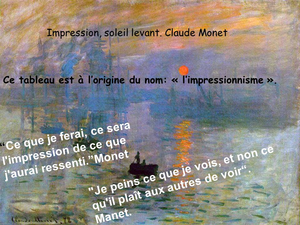 Impression, soleil levant. Claude Monet