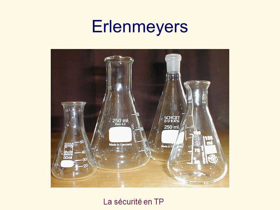 Erlenmeyers La sécurité en TP
