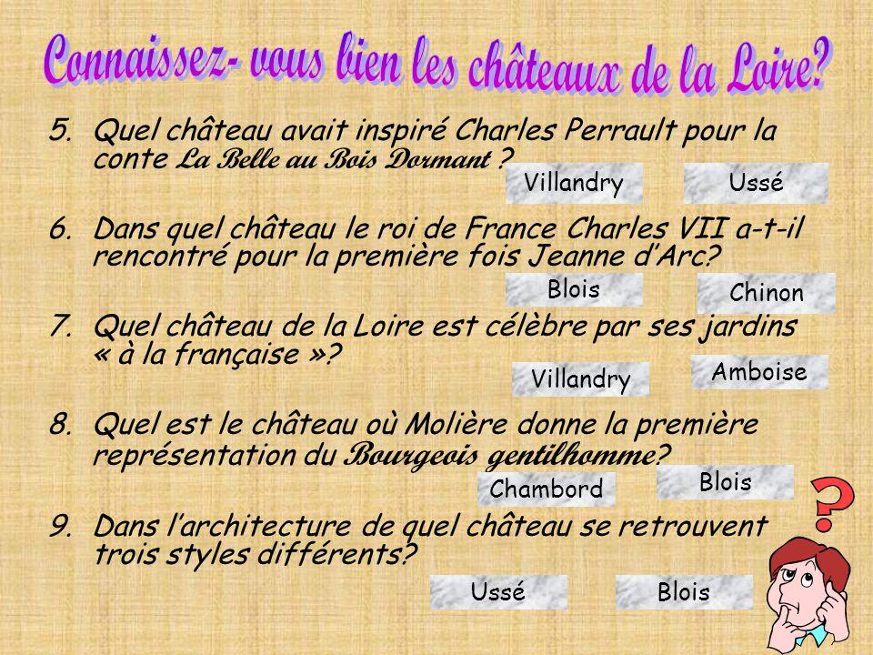Connaissez- vous bien les châteaux de la Loire