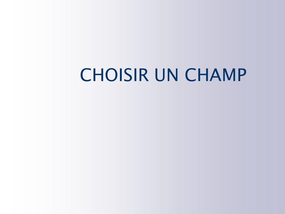 CHOISIR UN CHAMP